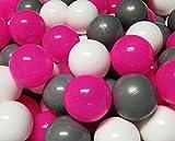 bällebad24 - 100 Stück Bällebad Bälle 6cm TÜV zertifiziert 'Pink-Mix' in...