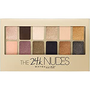 Maybelline New York The 24K Nudes Eyeshadow Palette, 0.34 Ounc