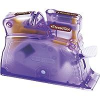 Clover Enhebrador De Mesa, Plastico, Lila, 14.6x11x2.8 cm