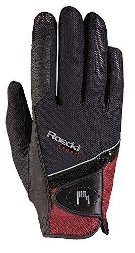 Roeckl Handschuhe Comfort Cut Madrid Farbe: Schwarz/Rot Größe: 10