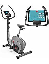 Sportstech Ergometer Heimtrainer ES400 & ESX500 - Smartphone APP Steuerung - Bluetooth - Pulsmesser - Hometrainer mit Magnetbremssystem - Fahrrad-Trainer - Fitness-Bike - Tablethalterung - LCD Display