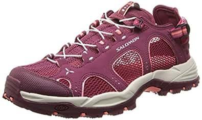 salomon techamphibian 3 chaussures de marche nordique femme violet bordeaux carmine melon. Black Bedroom Furniture Sets. Home Design Ideas