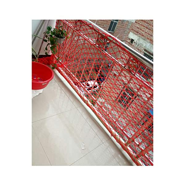 Child Safety Net, Baby Balcony Stair Cat Pet Protective Net, Bird Net, Garden Plant Protection Net, Outdoor Fall Protection Safety Net, Size 10mm * 6cm (Size : 4 * 9M)  ♦Child Safety Net. Handmade: High quality safety net protection net, the rope itself is flawless, re-twisted, and the rope is wound vertically and horizontally.This makes it straighter and far superior to the folding method (you can judge by hanging the bend). ♦Garden Protection Net. Polypropylene coating - Our utility ropes are made of a durable polypropylene jacket that can be hung if necessary.Nylon core and polypropylene cover have amazing resistance to deterioration, mildew, moisture, grease and rot. ♦Baby Balcony Protective Net. 100% risk-free use: We have no reason to ask for the quality of our products, which is why we believe you will like it!We believe in the quality of our products, so you can rest assured that you can get the best products on the market. 5