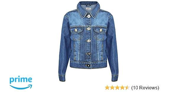 Girls Denim Jacket J12 Dark Blue 11-12 A2Z 4 Kids/® Kids Girls Designers Trendy Fashion Jeans Jacket Coats