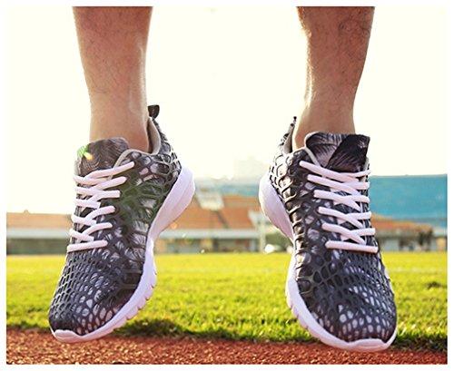 NEWZCERS unisex belle scarpe sportive moda in esecuzione scarpe da ginnastica Grau