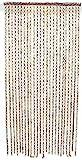 SIDCO Türvorhang Bambus Vorhang Fadenvorhang Holz Ringe Fliegenvorhang Raumteiler