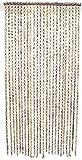 SIDCO Türvorhang Ring in Ring Bambus Fadenvorhang Insektenschutz Vorhang Raumteiler