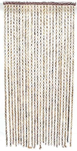 SIDCO Türvorhang Bambus Tür Vorhang Fadenvorhang Holz Ringe Fliegenvorhang Raumteiler