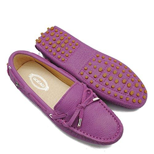 Meijili , Sandales Plateforme femme Nubuck Purple