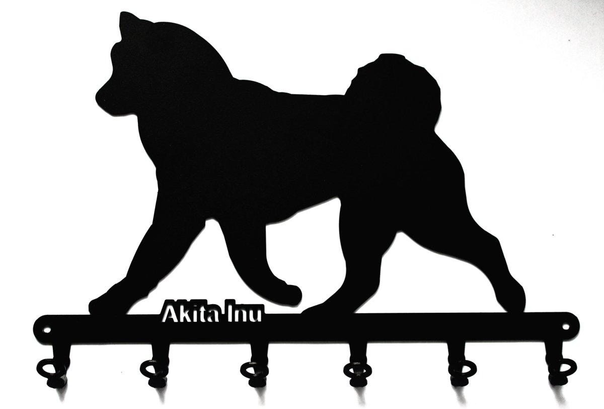 steelprint.de Key holder – Akita Inu – beautiful key hook for wall – 6 hooks