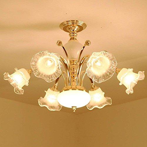 Arm-leuchter (CLLCR Haushalts-Leuchter, Kristallpalast-Deckenlampe, Schmiedeeisen-Wand-Lampe heiße Luxuxeuropäische Leuchter-Arm-Leuchter, Wohnzimmer-Luxus-Lampen Lüster De Chandeliers,Warmes Licht - sechs Li)