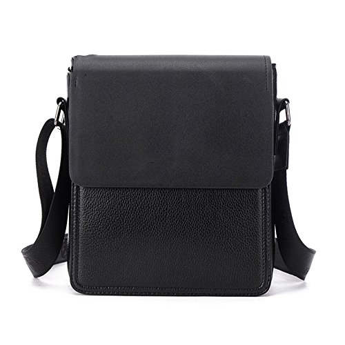 Männer Schulter Messenger Bag Business Casual Rucksack Wasserdichte Tasche Cabrio Bag Business Reisetasche Europa \u0026 Amerika Fashion Bag,Black1-OneSize - Business Casual Messenger Bag