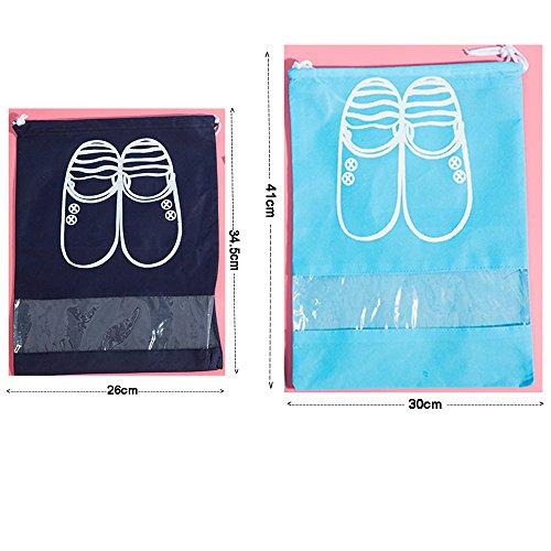 Staubbeutel tragbar Staubdicht Füllen Basketball Schuhe 34,5* 26cm + 41* 30cm Double Gym Paket (Benutzerdefinierte Drawstring-tasche)
