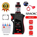 SMOK Mag Kit 225W TFV12 P-Tank Atomizer 2ML (Nero Rosso) Sigaretta Elettronica Senza Nicotina + Extra Tubo di Vetro Dropper Bottiglia Vape Band