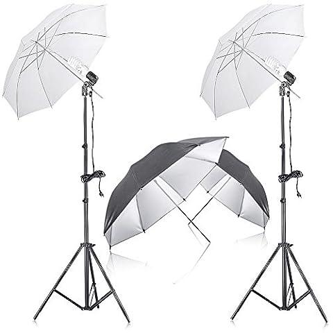 Neewer 400W 5500K Photo Studio Kit Eclairage Continu Parapluie avec 2 Pieces 33