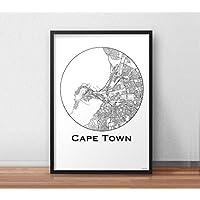 Plakat Cape town South Africa Minimalist Map - City Map, Dekoration, Geschenk