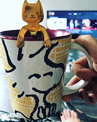 Ayomi 4Edelstahl Katze Kätzchen Design Edelstahl Kaffee/Dessert/Drink/mischen/Milchshake Löffel Geschirr Besteck Gadgets Scoop Schöpfkelle Löffel - 7