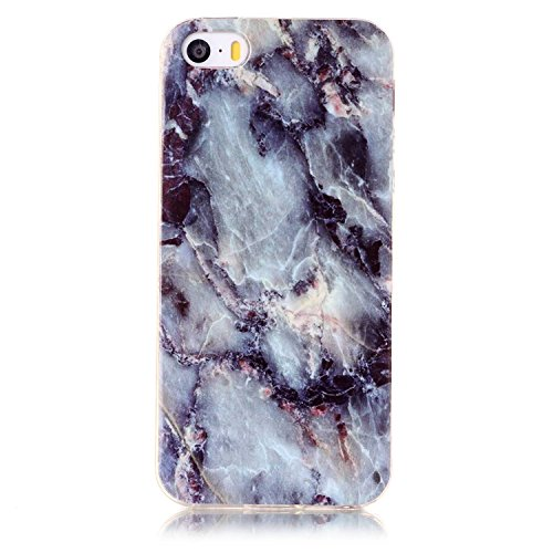iPhone SE Coque, Valenth Defender [TPU Marble] Protector Coque pour iPhone SE 4#