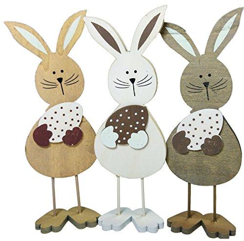 khevga pasquali–Coniglietto pasquale Figura in legno in set da pezzi