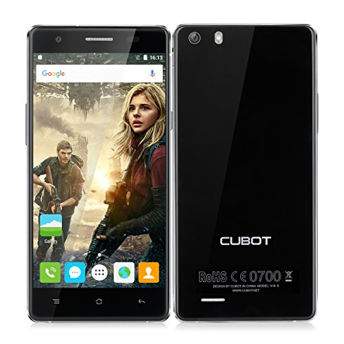 Cubot X16S 4G Smartphone - 5.0'' Android 6.0 HD IPS Quad Core,1.3GHz 720P Mobile Phone 3GB RAM 16GB ROM 13MP + 8MP 2700mAh Batteria, Nero