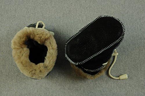 Wolle Bb Schwarz Kleidung Junge Grau Natur Winterschuhe Baby schwarz Leder 12 Schuhe braun Cm dunkel 7qFC5zw
