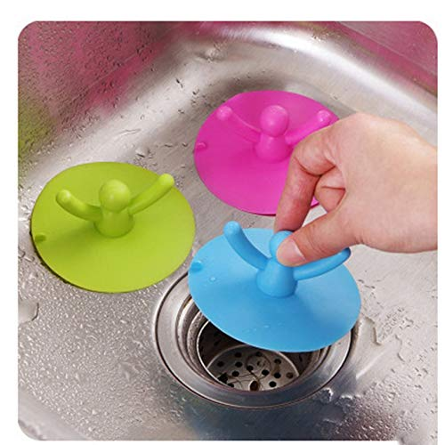 Appearandes Kitchen Sink Strainer Filter Drain Cover Anti-Blocking Residue Stopper