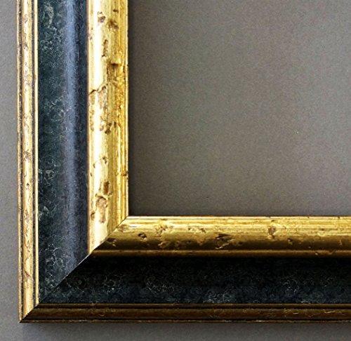 Bilderrahmen Genua Schwarz Gold 4,3 - WRU - DIN A5 (14,8 x 21,0 cm) - 500 Varianten - alle Größen...