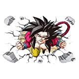 JUNMAO Dragon Ball Z Son Goku Wandaufkleber/Wandbild Aufkleber/Wand Poster/Wandgemälde (-4)