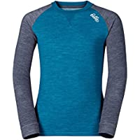 Odlo Shirt L/S Revolution TW Warm Kids - blue jewel-navy melange