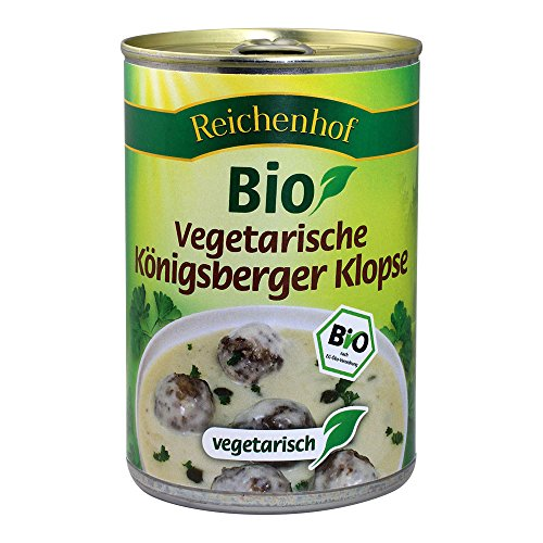 Reichenhof Bio Vegetarische Königsberger Klopse in Kapernsauce - Fertiggericht, 6er Pack (6 x 400 g)