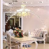 Pindia Acrylic Crystal 20 Piece Plastic Strings Bead Hanging Curtain - 20 arc, Transparent
