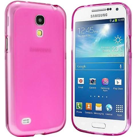 Samsung Galaxy S4 Mini Hülle - Schutzhülle Silikonhülle Case Cover Tasche für Samsung S4 Mini (Pink)
