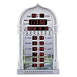 Musulmán Islámico Azan Praying Clock Mezquita Tiempo de Oración Digital Recordatorio de Alarma Reloj de Pared Automático con Control Remoto Inteligente para El Hogar (Enchufe de La UE)