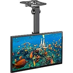 Support TV Plafond - Support de Téléviseur Inclinable et Pivotant Ajustable pour l'Écran de 17 à 39 Pouces - Support de Toiture Full-Motion supporte 20 kg avec VESA 200 x 200