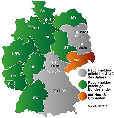 Smartwares TÜV Rauchmelder / Brandmelder, DIN EN 14604, reinweiß, RM149_1J - 13