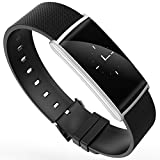 L.Atsain Fitness Tracker N108 Smart Band with Blood Oxygen Pressure Monitor 0.96 inch OLED display Smartwatch Pedometer Bracelet Heart Rate monitor WristBand Activity Tracker for Android and IOS