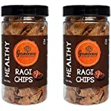 Graminway Ragi Diet Chips | Healthy Crispy and Spicy Munchies | Snacks, 100 Grams Each (Pack of 2)