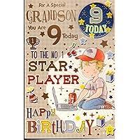Grandson 9th Birthday Card -