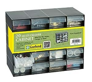 garland casier de rangement en plastique 20 tiroirs pour. Black Bedroom Furniture Sets. Home Design Ideas