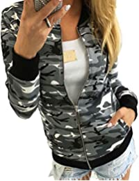 Tonsee Femmes Camouflage Manteau Automne Winter Street Jacket Fashion Ladies Casual Vestes