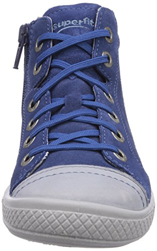 Superfit TENSY Jungen Hohe Sneakers Blau (WATER KOMBI 88)