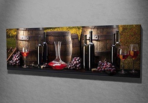 Leinwand Panel Bild Wand aufhängen Split Art Weinfass Glas Toskana bordeaux Grape Vinery Vineyard 762sym1247 - Art-glas-panel