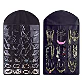 Home Store india Hanging Non Woven Jewellery Organizer, Black Set of 2