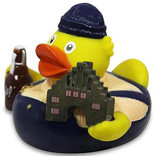 HC-Handel 916654 Vinyl Badeente City Duck Flensburg Gummiente 8 cm (Gummi-ente Baby-buch)