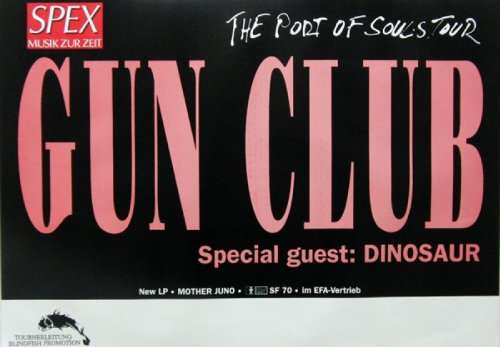 GUN CLUB - DINOSAUR - Tourplakat - Port of Souls - 1987 - Tourposter - Concert