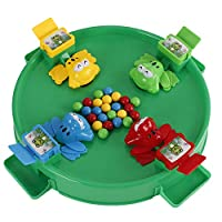 Board Game Toy Hungry Frog Eating Beans Toy Games Set Interactive game for parents Puzzle Toys 2 frog for players 1 Set