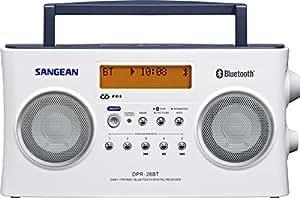 Sangean DPR-26BT tragbares DAB+ Digitalradio (UKW-Tuner, Bluetooth, AUX-In) weiß