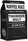 whole bean , 16 oz : Koffee Kult THUNDER BOLT WHOLE BEAN COFFEE with French Roast Colombian Coffee Artisan Roasted - 1 pound bag (packaging may vary)