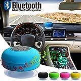 HUVE Mini-Duschlautsprecher Tragbare wasserdichte Drahtlose Bluetooth-Lautsprecher Mit Saugnapf, Modische Musikinstrumente Kompatibel Mit IOS, Android, PC -