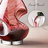 FINAL TOUCH Conundrum B00D8ZIYXO Weinbelüfter und Dekanter, Glas (farblos) - 3